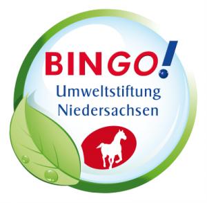 Das Logo der BINGO! Umweltstiftung Niedersachsen.