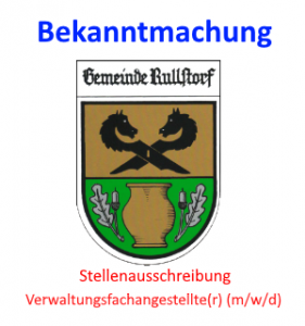 Stellenausschreibung Verwaltungsfachangestellte(r)