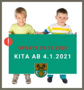 Update vom 29.12.2020 zur Kinderbetreuung in der Kita Rullstorf ab 04.01.2021