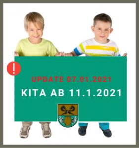 Update 07.01.2021; Kita Rullstorf; Verlängerung Lockdown; Notbetreuung ab 11.01.2021