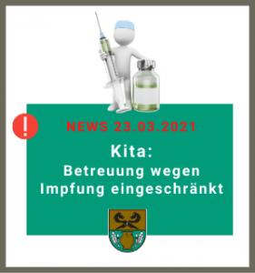 Gemeinde Rullstorf; Eingeschränkte Kita-Betreuung wegen Impfung